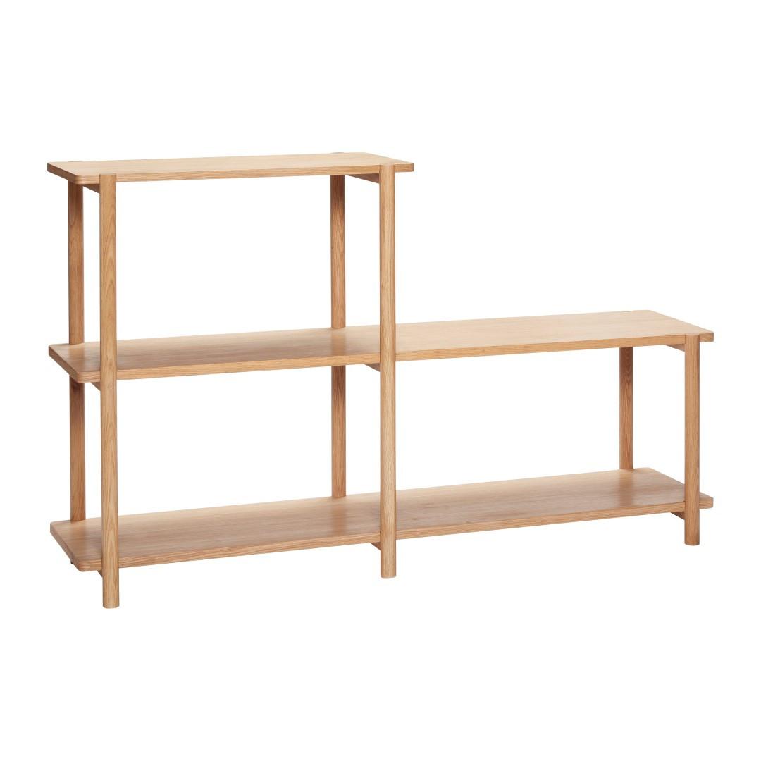 Shelving Unit 3 Shelves Oak