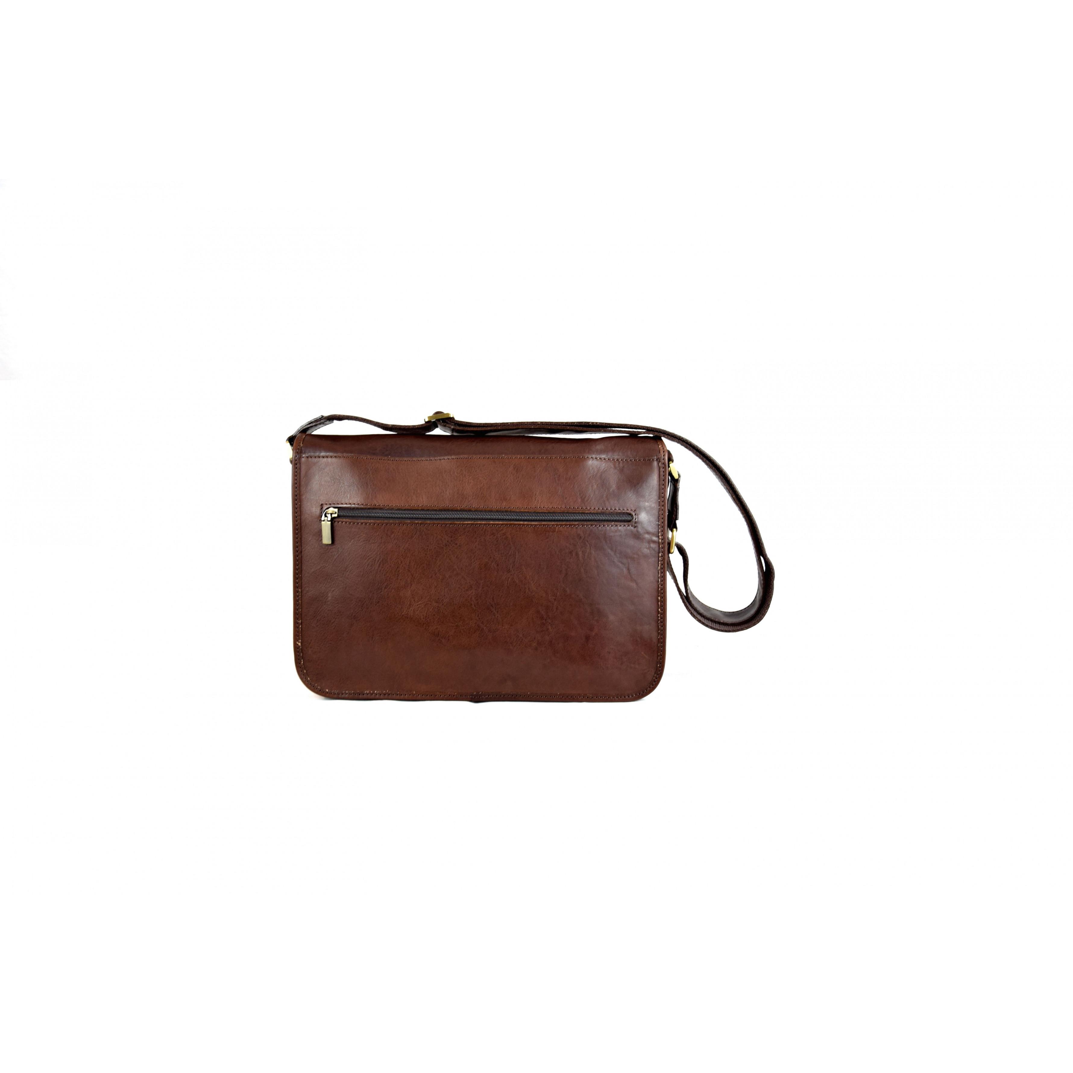Leather Bag | Unisex Crossbody Briefcase
