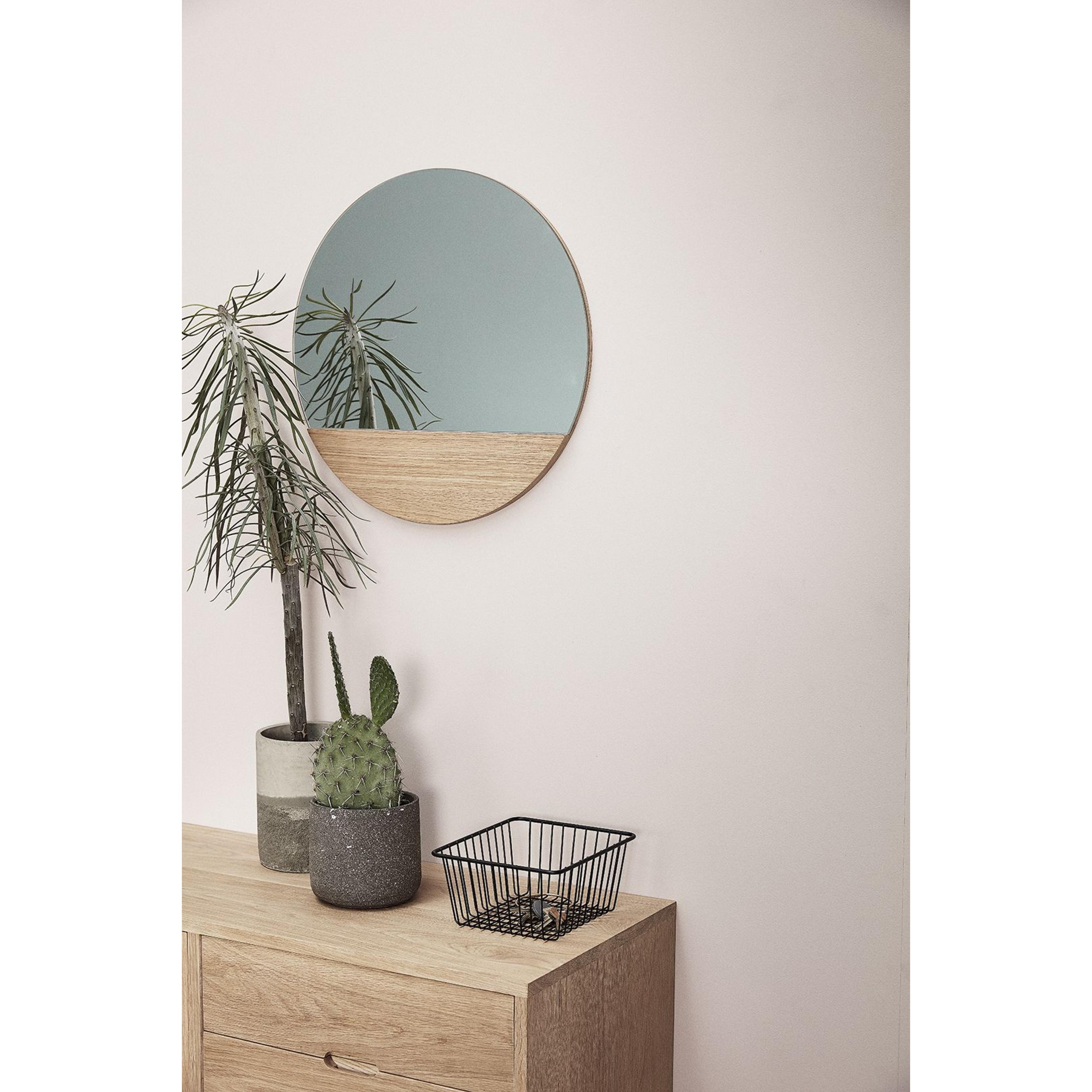 Regal mit Spiegel | Rund