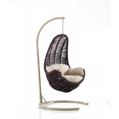 Schwingstuhl für Garten | Tower | Braun