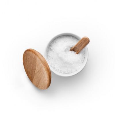 Salzefäß mit Deckel und Löffel Legio Nova