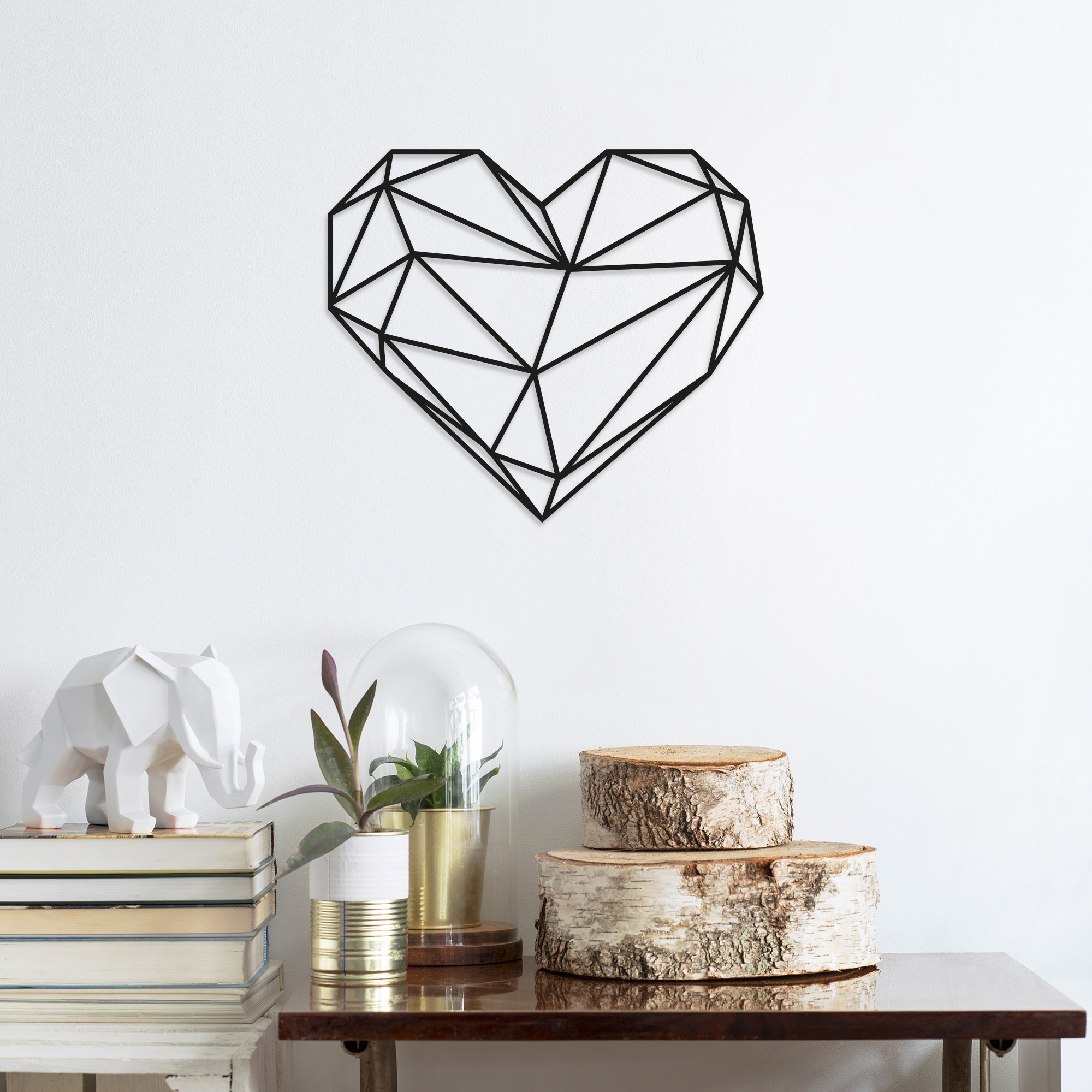 Wall Decoration Heart   Black