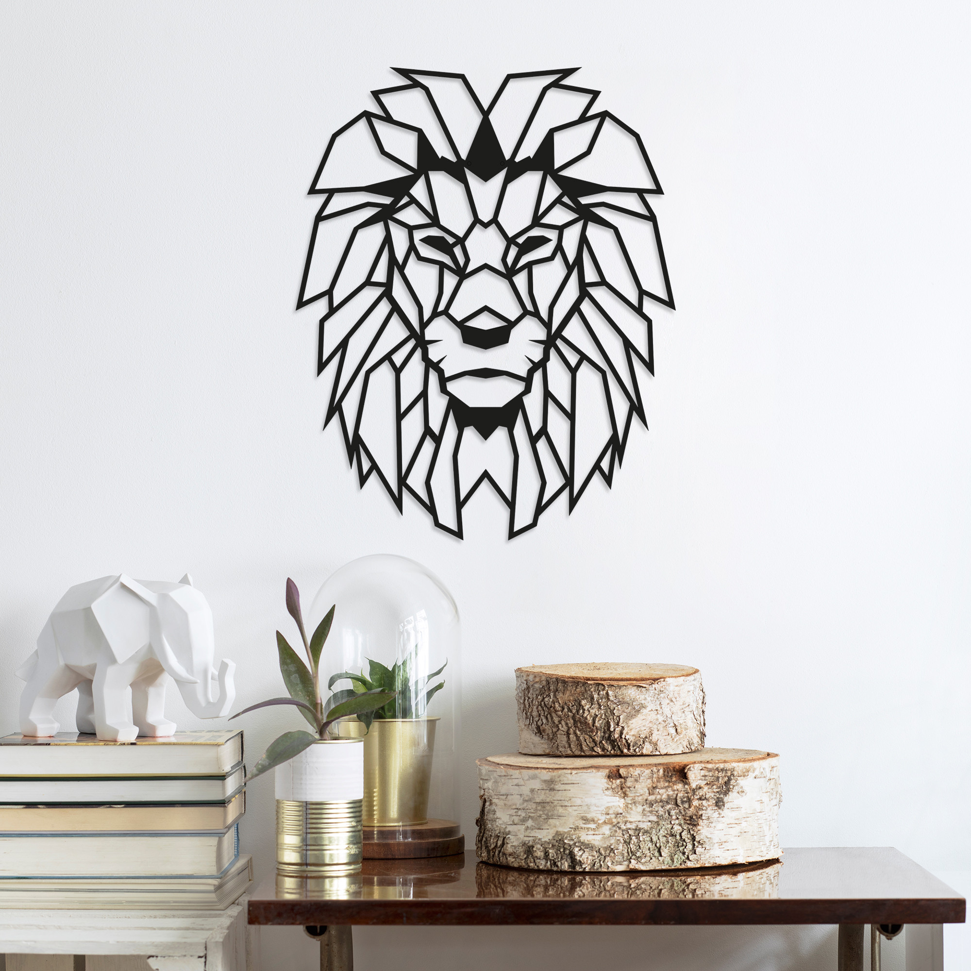Wall Decoration Lion | Black