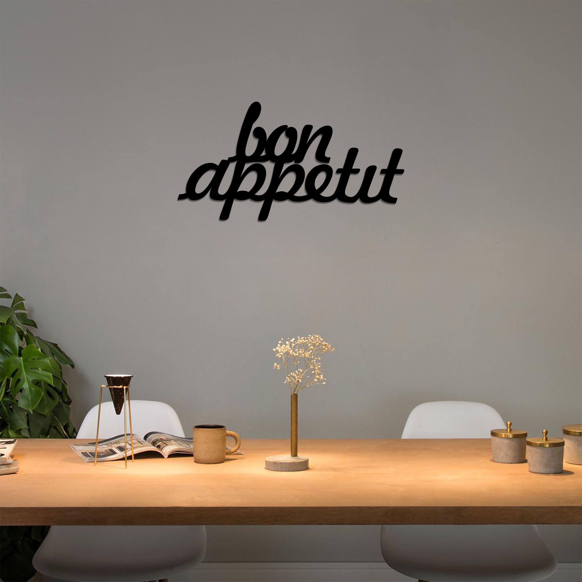 Wall Decoration Bon Appetit   Black