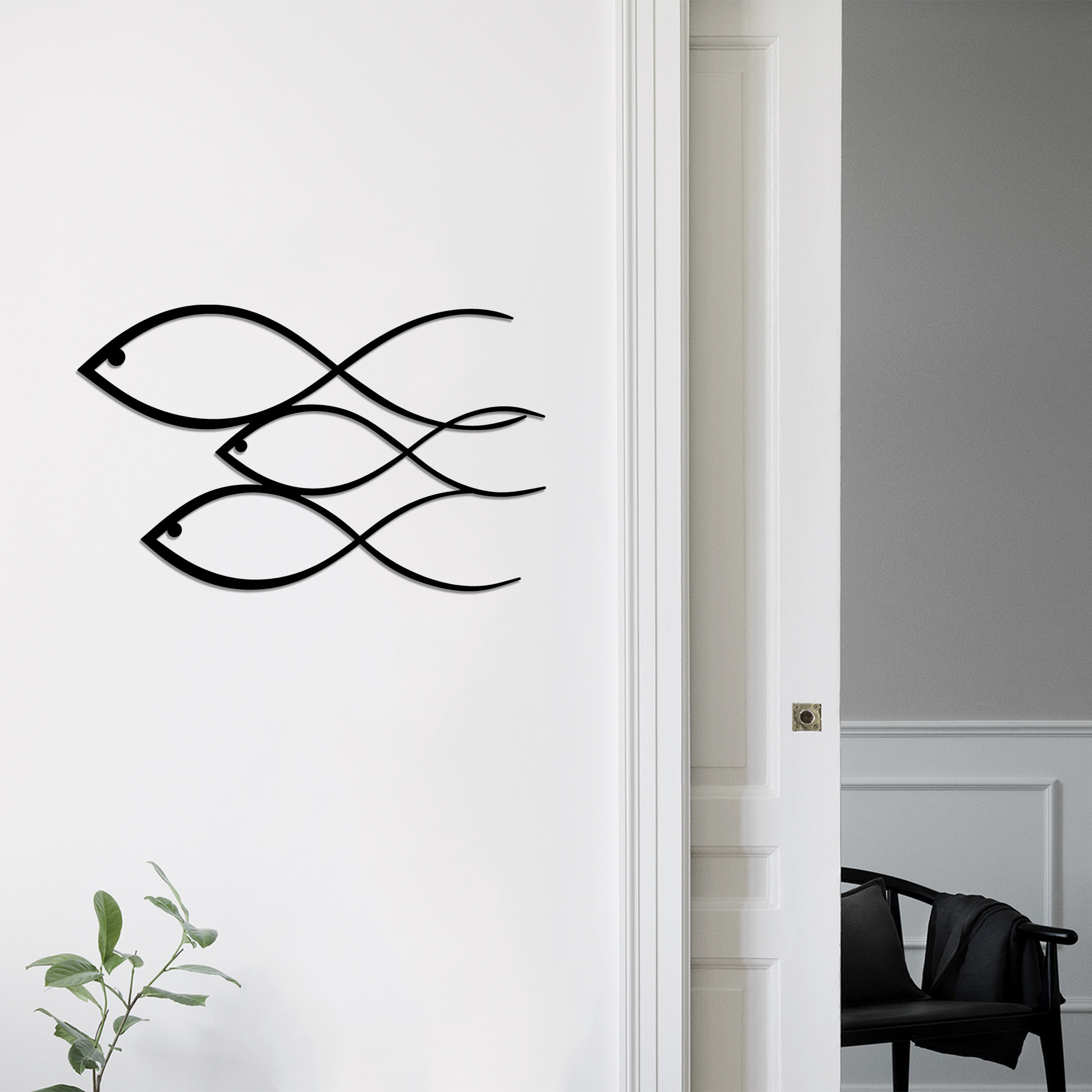 Wall Decoration Fish | Black
