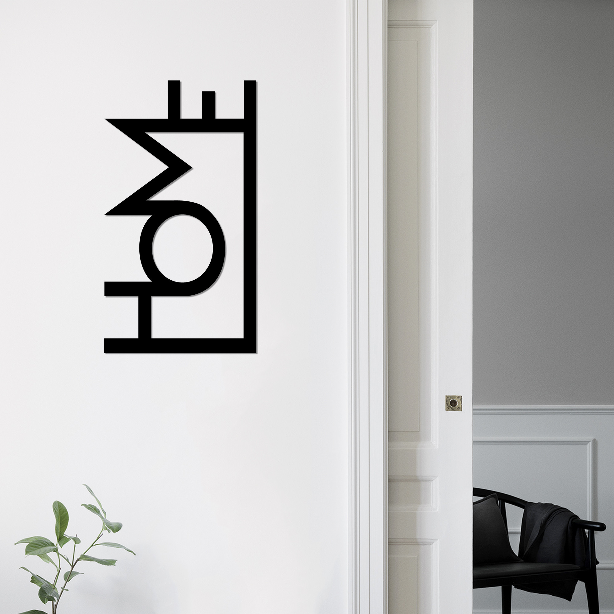Wall Decoration Home | Black