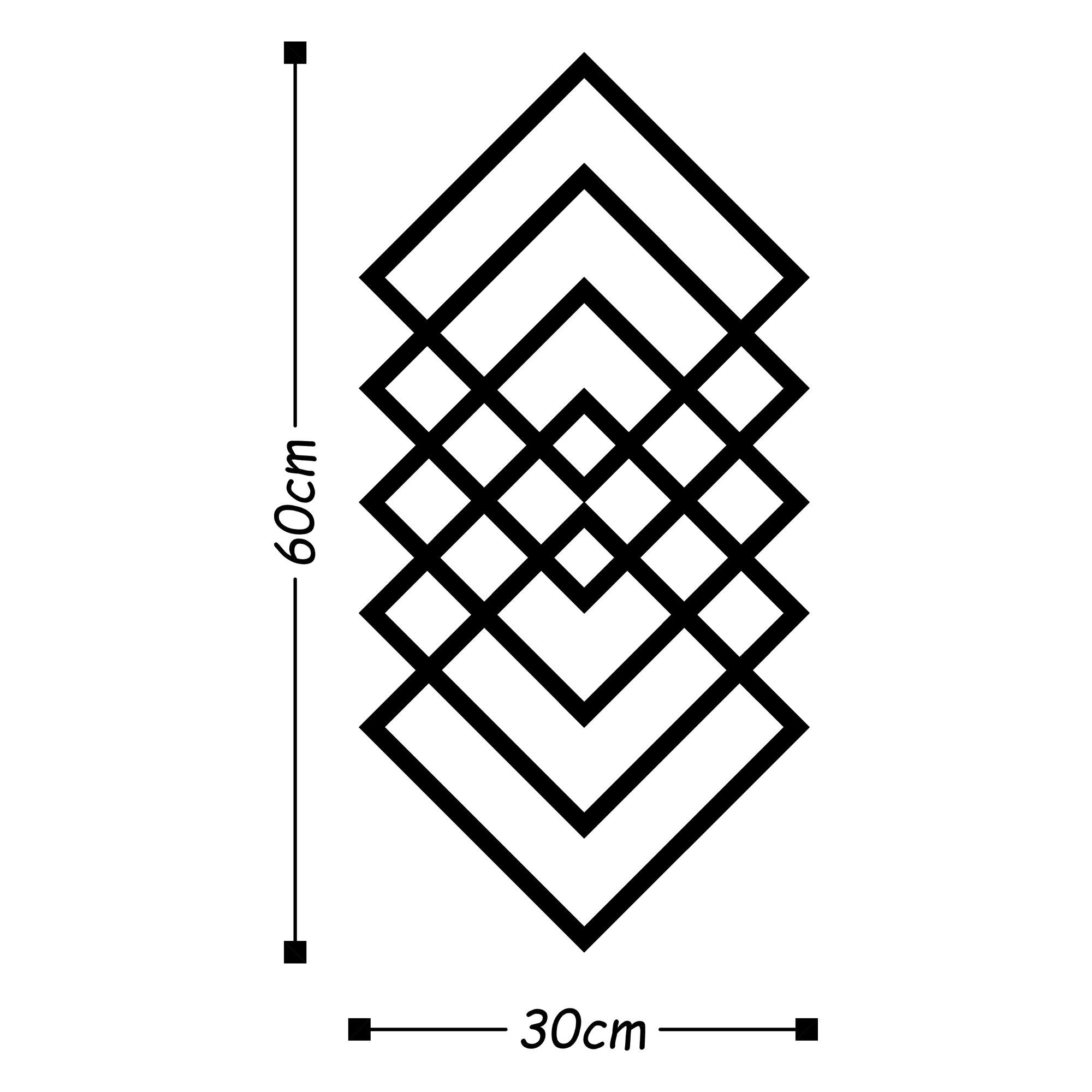 Wall Decoration Geometry   Black
