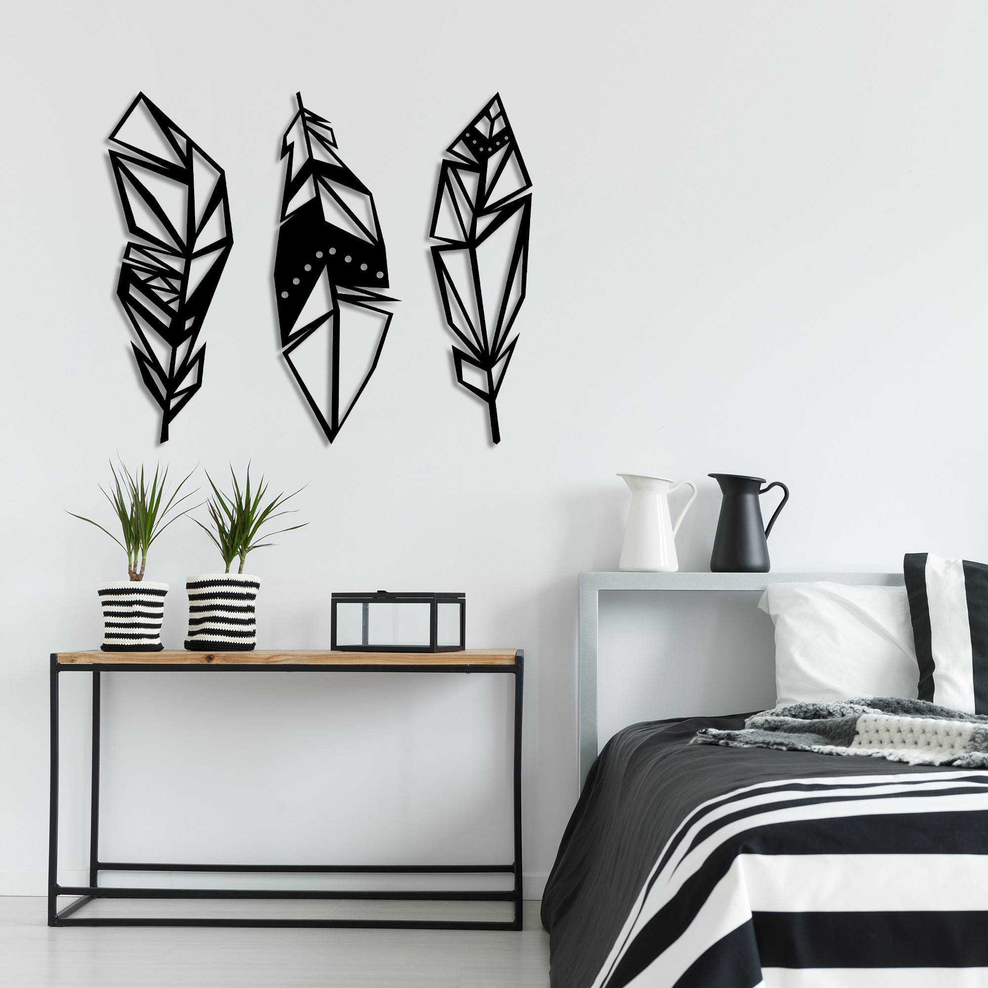 Wall Decoration Feather | Black