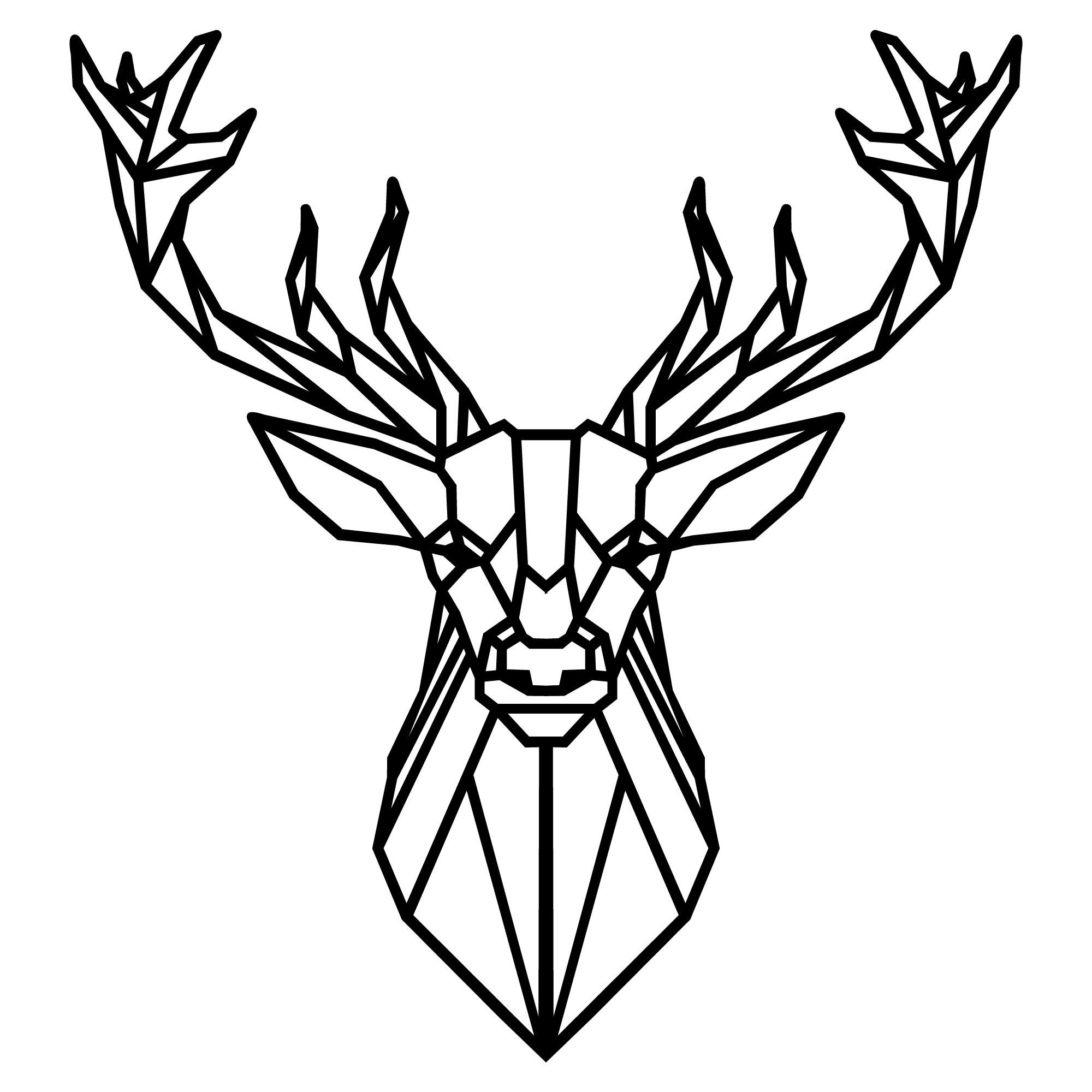 Wall Decoration Deer 4 | Black