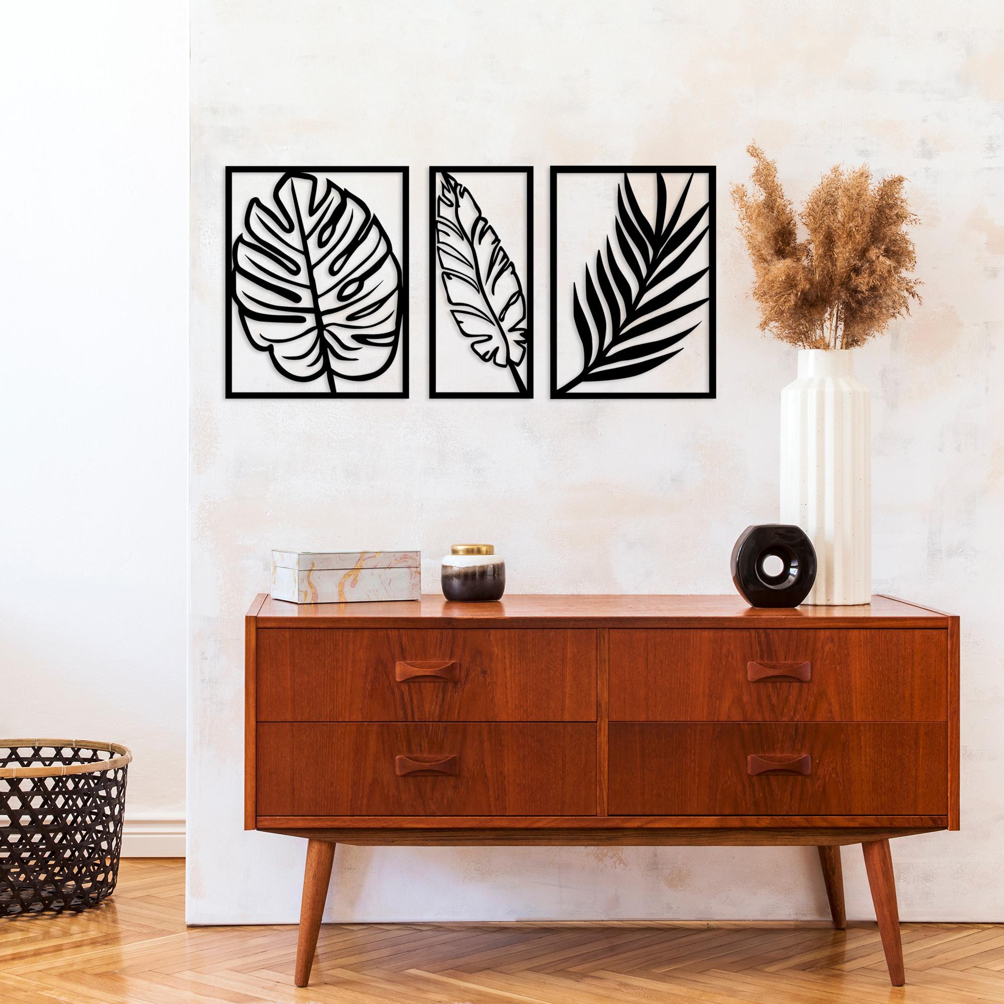 Wall Decoration Leaf 2 | Black