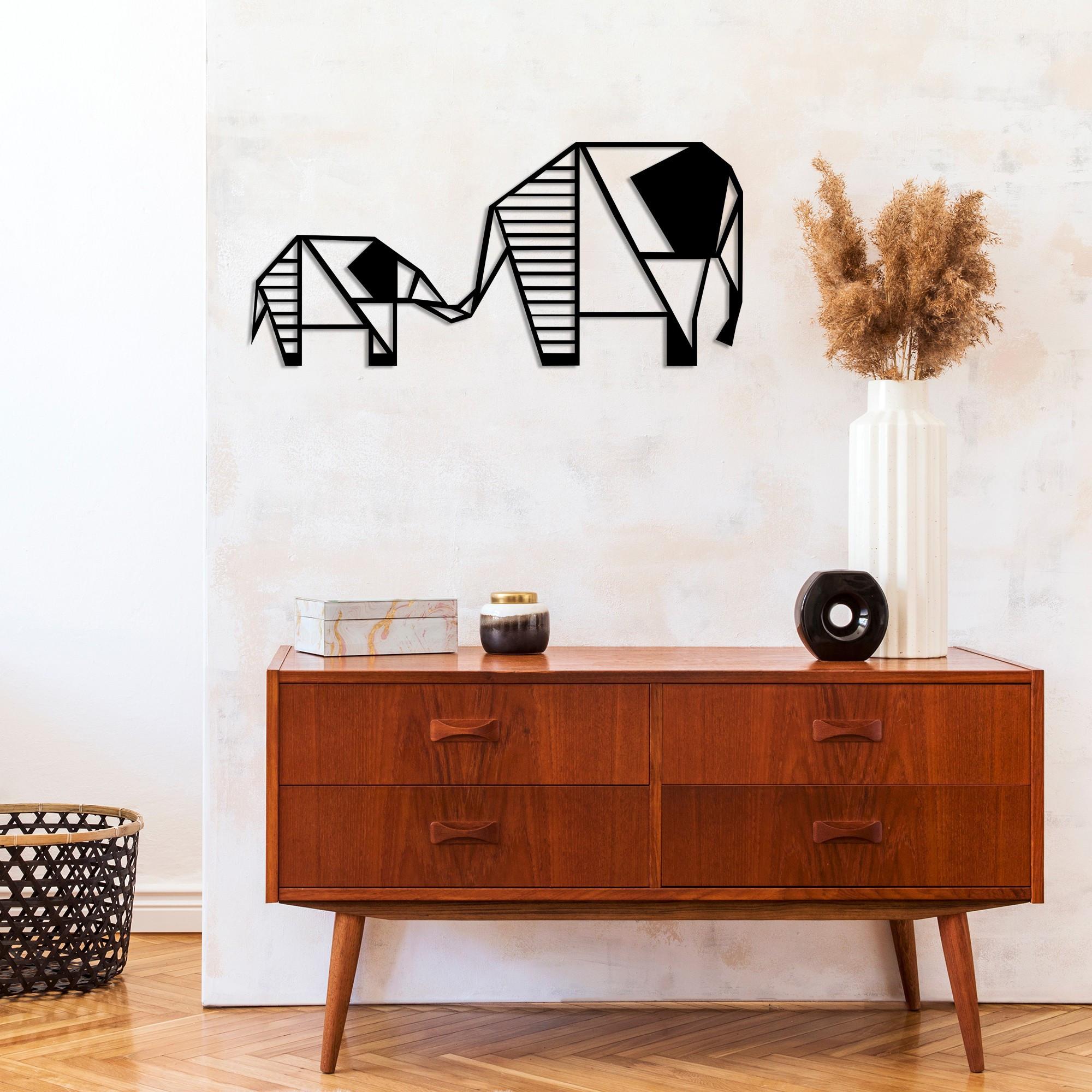 Wall Decoration Elephant 3 | Black
