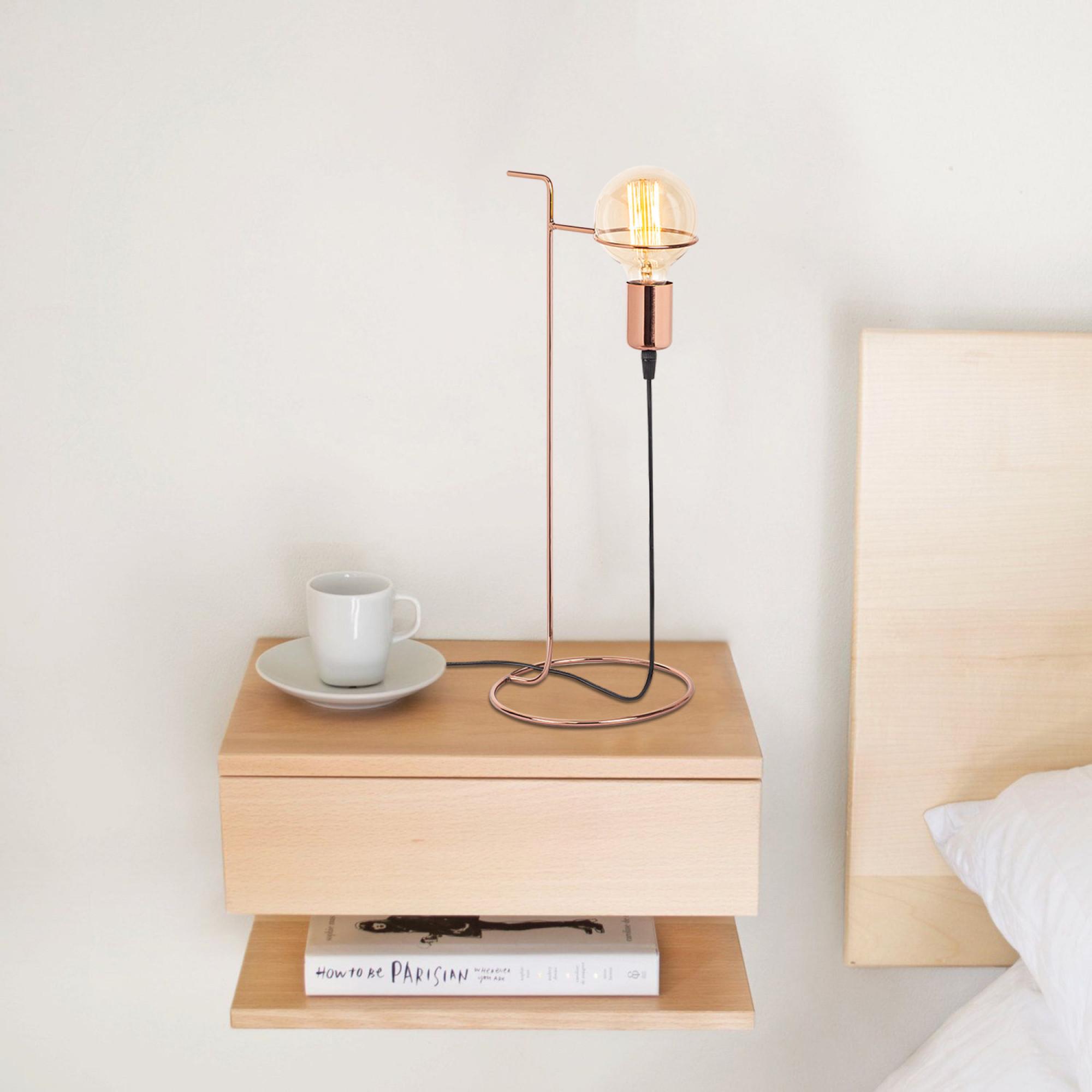 Tischlampenhalter Pota | Kupfer