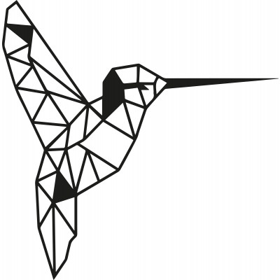 Wandschmuck Vogel | Schwarz