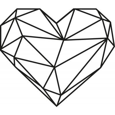 Wandschmuck Herz | Schwarz