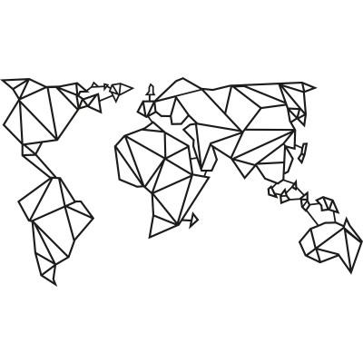 Wandschmuck Weltkarte 2 | Schwarz