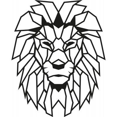 Wandschmuck Löwe | Schwarz