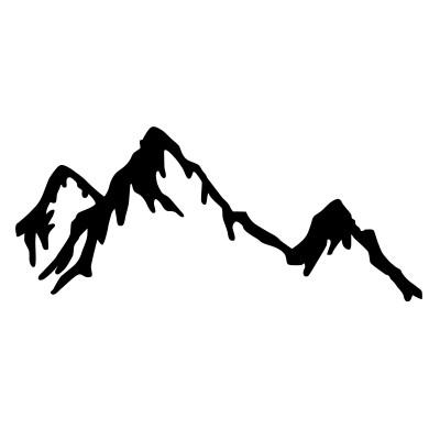 Wandschmuck Berg | Schwarz