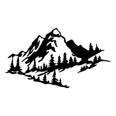 Wandschmuck Berg 2 | Schwarz