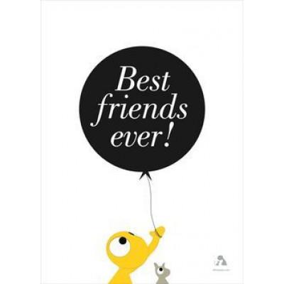 Beste Freunde aller Zeiten Poster | Weiß