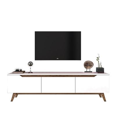 TV-Ständer D1-794 | Weiß-Walnuss