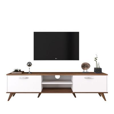 TV-Ständer A9 - 342 | Walnuss-Weiß