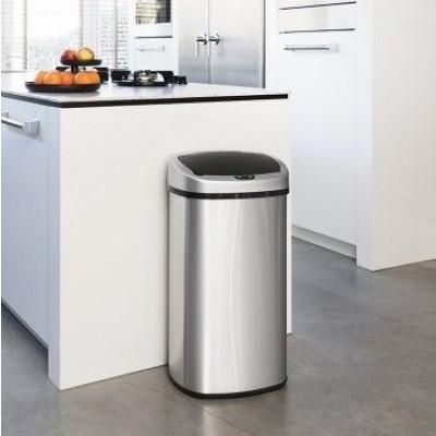 Abfallbehälter aus Edelstahl mit Infrarot