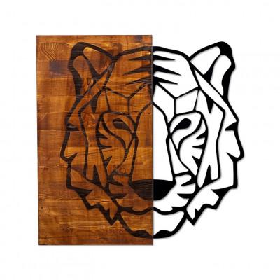 Wanddekoration Tiger 1 | Nussbaum Schwarz