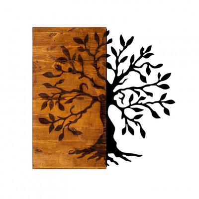 Wanddekoration Baum | Nussbaum Schwarz