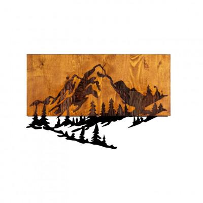 Wanddekoration Berg 2 | Nussbaum Schwarz