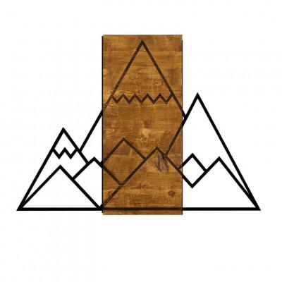 Wanddekoration Berg | Nussbaum Schwarz