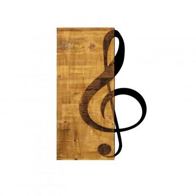 Wanddekoration Violinschlüssel | Nussbaum Schwarz