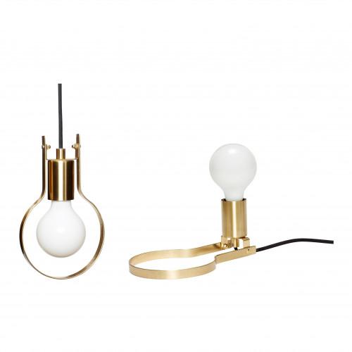Pendant / Table Lamp   Brass