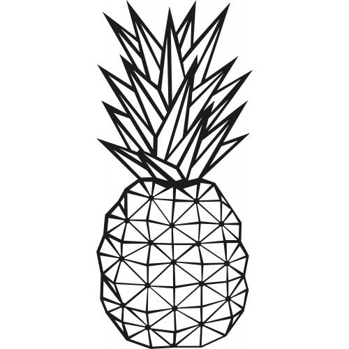 Wall Decoration Pineapple | Black