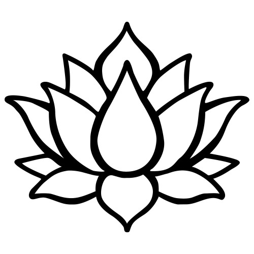 Wall Decoration Lotus Flower 1 | Black