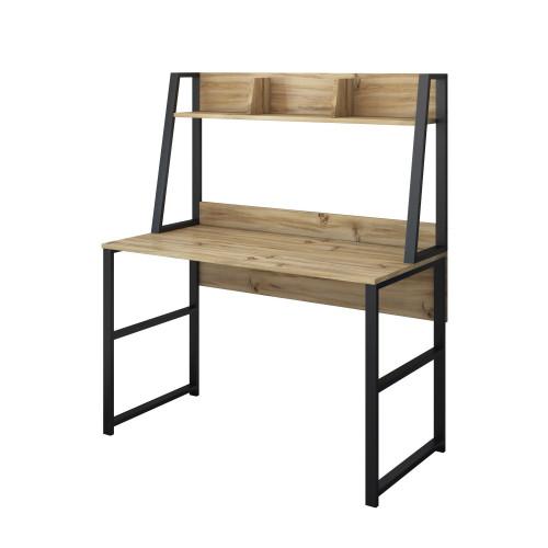 Schreibtisch M4 -1596 | Walnuss-Schwarz