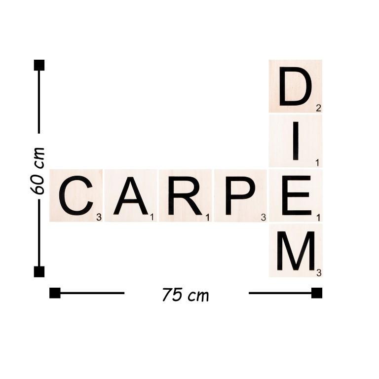Wall Deco Scrabble Set Carpe Diem