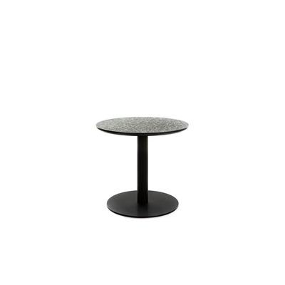 Runder Tisch Terazzo Niedrig | Schwarz