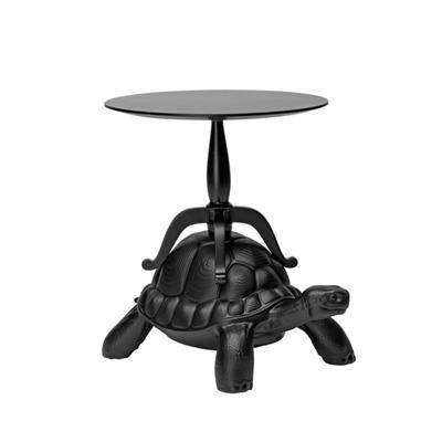 Abgenutzter Couchtisch Schildkröte | Schwarz