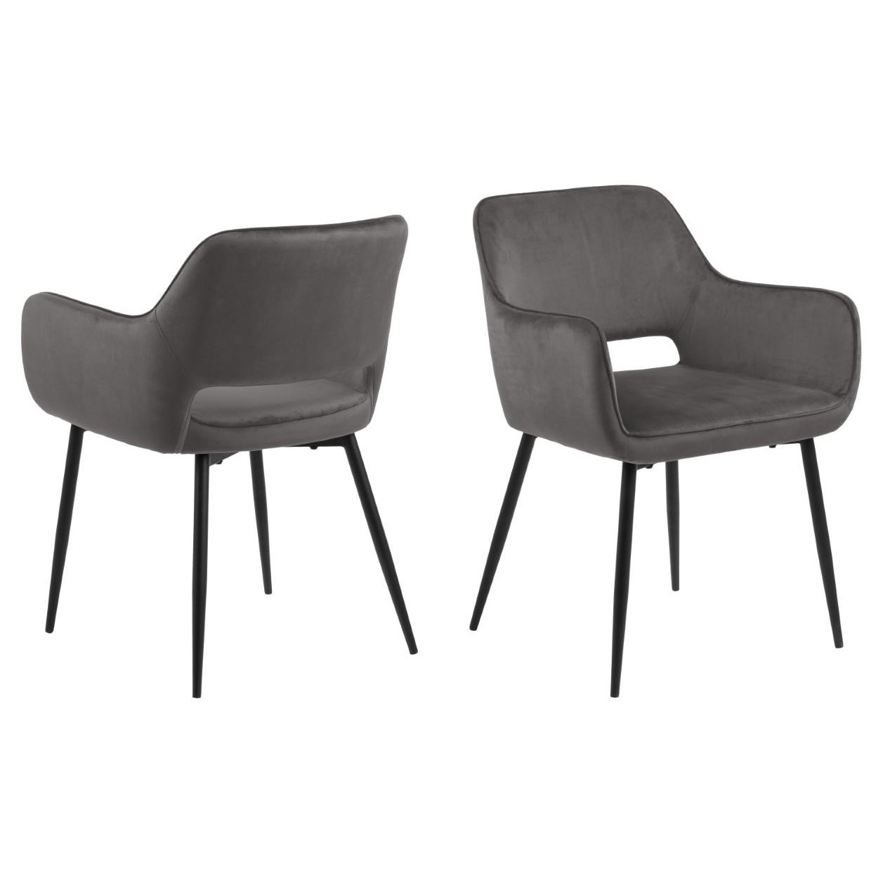 2-er Set Stühle Banja | Dunkelgrau