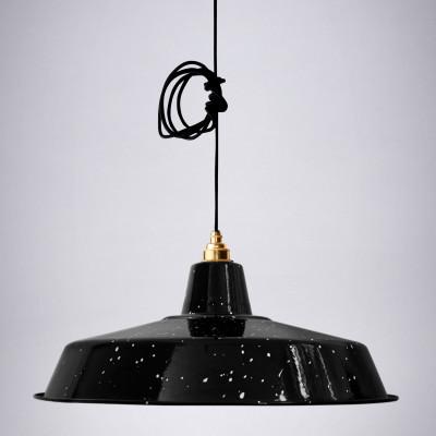 Lampenschirm Classic | Weiß & Schwarz gesprenkelt