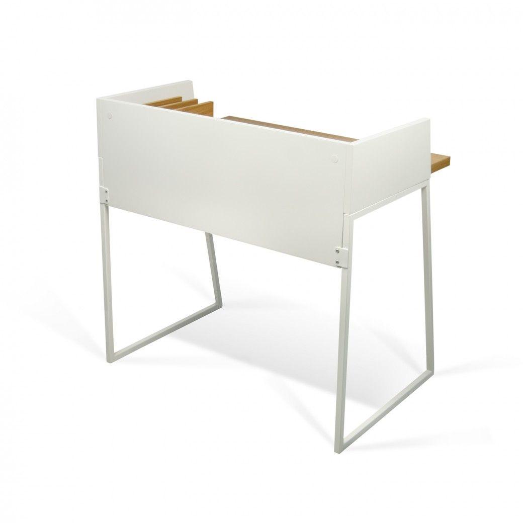 Desk Volga | Pure White & Oak