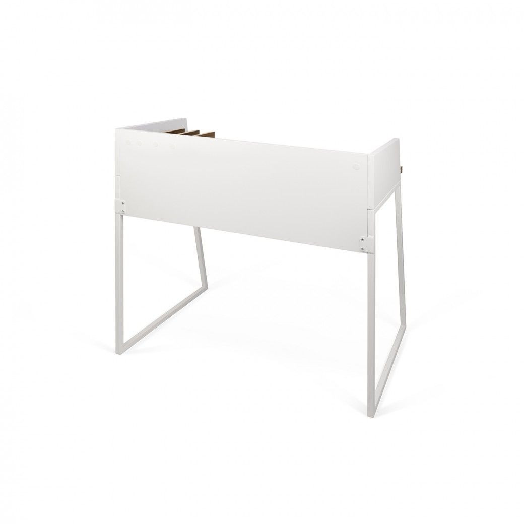 Schreibtisch Volga | Weiß & Walnuss