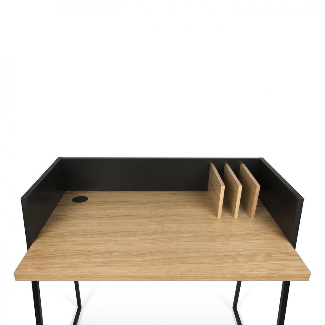 Schreibtisch Volga   Schwarz & Eiche