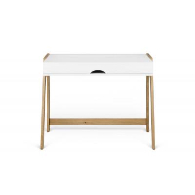 Schreibtisch Aura l Reinweiß-Eiche