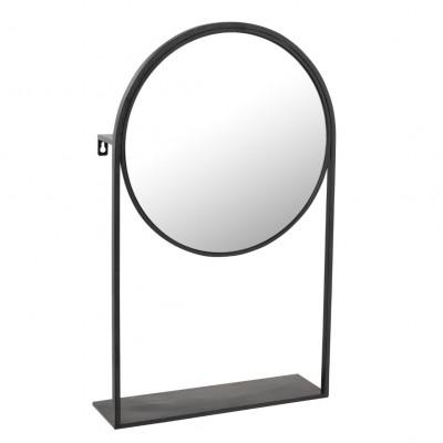 Spiegel auf Fuß   Schwarz