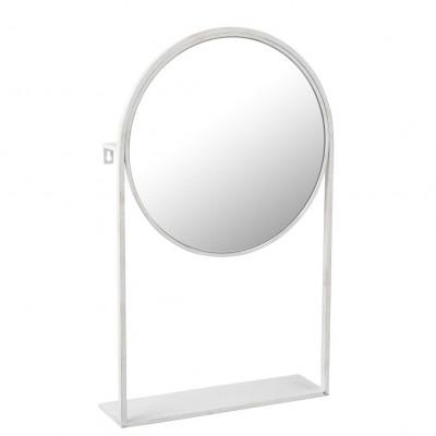 Spiegel auf Fuß   Weiß