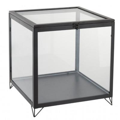 Glasbox quadratisch   Schwarz