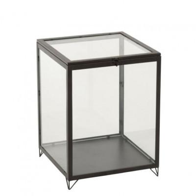 Glasbox rechteckig   Schwarz