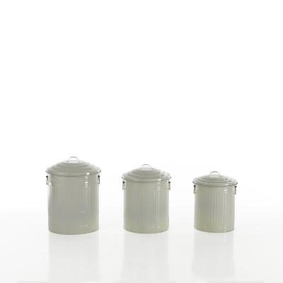 3-er Set Mini-Abfalleimern Amerika | Elfenbein