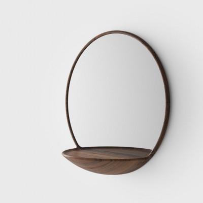 Spiegel mit Regal | Braun